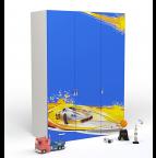 Шкаф 3-х дверный Champion (синяя)