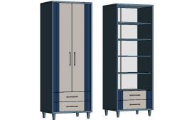 Шкаф с полками и 2-мя ящиками EC570Q Elegant