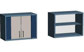 Шкаф навесной 2-х дверный EMS270 Elegant