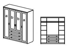 Шкаф Стрекоза (спальня) sf 314124 изображение 1