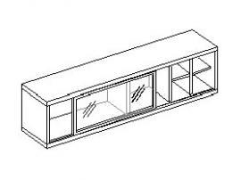 Шкаф настенный с витриной 30.222