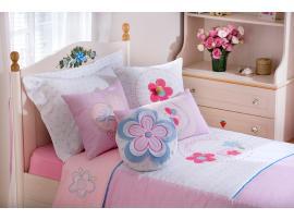 Комплект постельных принадлежностей Flora Pink XL 180*210 (4456) изображение 2