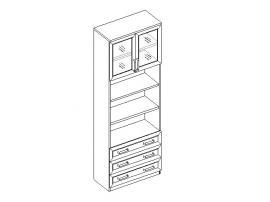 Шкаф для книг 2дв. 3ящ.