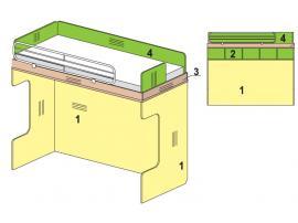 Двухъярусная кровать Солнечный город 51k029 изображение 1