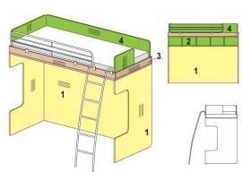 Двухъярусная кровать Солнечный город с лестницей 51k031 изображение 1