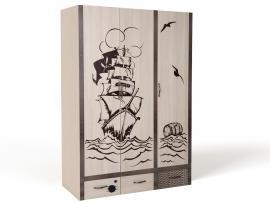 Шкаф 3-х дверный Пират изображение 2