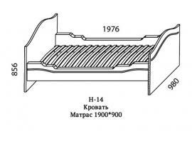 Кровать Н-14 Наутилус изображение 4