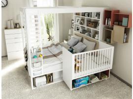 Кровать двуспальная с книжным шкафом 4 You изображение 2
