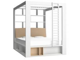Кровать двуспальная с книжным шкафом 4 You изображение 3