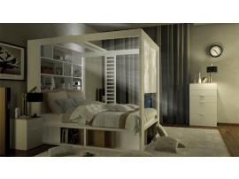 Кровать двуспальная с книжным шкафом 4 You изображение 5