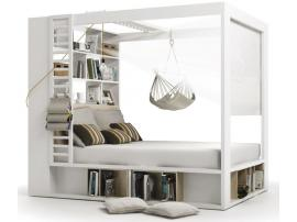 Кровать двуспальная с книжным шкафом 4 You изображение 1