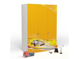 Шкаф 3-х дверный Champion (оранжевый) изображение 1