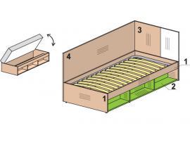 Кровать тахта Мегаполис 53k125 изображение 1