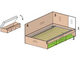 Кровать тахта Мегаполис 53k135 изображение 1