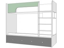 Кровать двухъярусная Нордик Фреш изображение 1