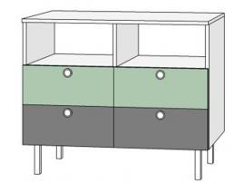 Комод 4 ящика Нордик Фреш изображение 1