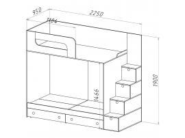 Кровать двухъярусная Нордик Фреш изображение 2