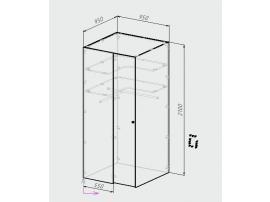 Шкаф-гардероб Оксфорд изображение 5