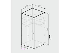 Шкаф-гардероб Оксфорд изображение 6