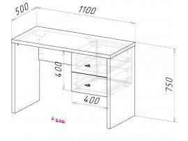 Cтол с ящиками Оксфорд изображение 2