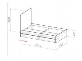 Кровать высокая Оксфорд изображение 2