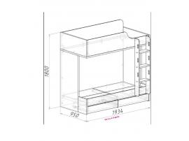 Кровать двухъярусная Оксфорд изображение 2