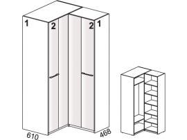 Шкаф угловой 52H010 Leona изображение 1