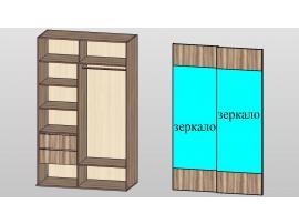 Шкаф-купе с зекарлом 2 Loft изображение 2