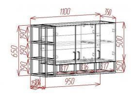 Полка над столом Loft изображение 2