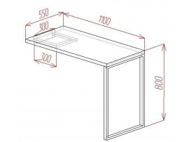 Стол угловой Loft изображение 2