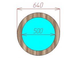 Зеркало круглое Loft изображение 2