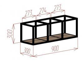 Полка-куб 3 Loft изображение 2