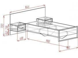 Кровать с двумя тумбами Loft изображение 2