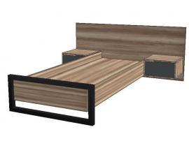 Кровать с двумя тумбами Loft изображение 1