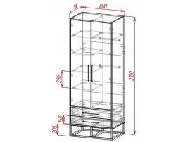 Шкаф 2-х дверный с ящиками Loft изображение 2