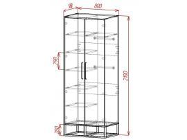Шкаф 2-х дверный Loft изображение 2
