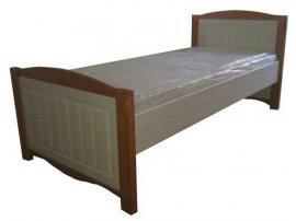 Кровать 90х200 Милано (белый воск/браун)
