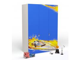 Шкаф 3-х дверный Champion (синяя) изображение 1