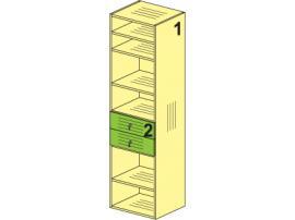 Шкаф с полками Мегаполис (гостиная) 53H011
