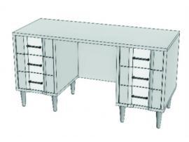 Стол 2-х тумбовый ET115Q Elegant