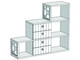 Горка 3-х этажная с 4-мя ящиками VG5-140Q Velvet
