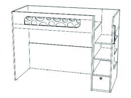 Кровать-чердак с ящиком VBR02Q Velvet изображение 1