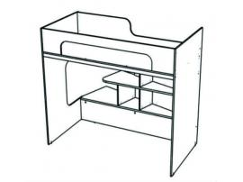 Кровать-чердак угловая Junior BRU1 изображение 1