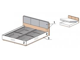 Кровать с подъемным механизмом 1500H 52K321 Leona изображение 1