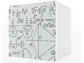 Полка куб c фасадом НьюТон Грей изображение 1
