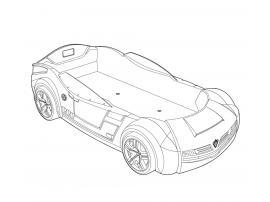 Кровать-машина Champion Racer BiTurbo 90x195 (1336) изображение 2