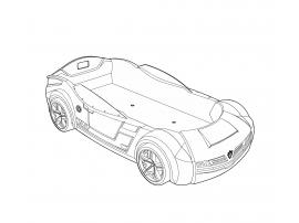 Кровать-машина Champion Racer BiTurbo 90х195 (1337) изображение 3