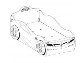 Кровать-машина c выдвижной кроватью Champion Racer Coupe 90х190/90х180 (1306) изображение 5