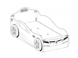 Кровать-машина c выдвижной кроватью Champion Racer 90х190/90х180 (1310) изображение 3