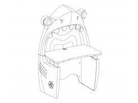 Письменный стол Pirate «Акула» (1103) изображение 10